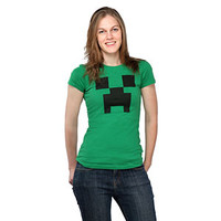 Minecraft Creeper Fitted Ladies' Tee