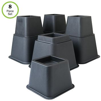 Evelots Bed/Furniture Risers- 3, 5 or 8 Inch Higher-More Space-HEAVY DUTY