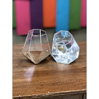 Diamond stemless wine glass