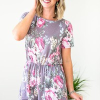 No Rest Floral Romper with Pockets