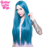 "Lace Front Yaki Straight 32"" - Turquoise Mix -00701"