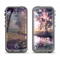 The Vivid Colored Forrest Scene Apple iPhone 5c LifeProof Fre Case Skin Set