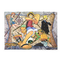 One Piece Treasure Map Fabric Poster