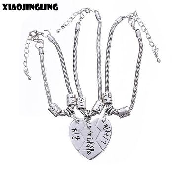 XIAOJINGLING 1pcs/2pcs/3pcs Fashion Jewelry Bracelet Mother and Daughter Gifts Best Friend / Sister Gifts Bracelets For Women