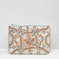 True Decadence Embellished Zip Top Pouch at asos.com