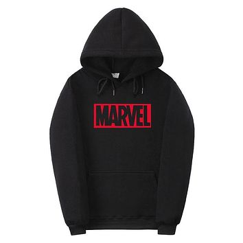 2017 New Brand Marvel men Women Hoodies Sweatshirt Men Skateboards Male Cotton Hoodie Sweat clothing