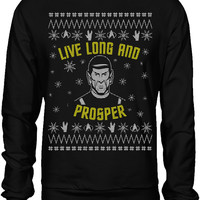 Star Trek Live Long & Prosper Ugly Holiday Sweater
