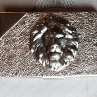 Lion business card case card case by Charsfavoritethings on Etsy
