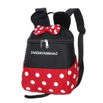 Waterproof Child School Bag Cartoon mickey backpacks/kids kindergarten backpack/kid school bags/Satchel for boys and girls gifts