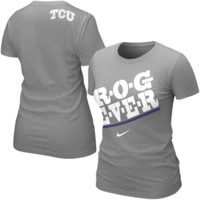 Nike TCU Horned Frogs Women's Frog Fever Local T-Shirt - Ash