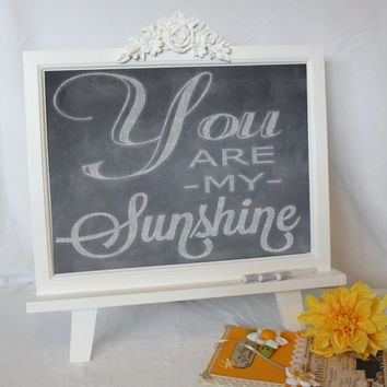 CHALKBOARD Frame - Magnetic Framed Sign Decorative Large BLACKBOARD  White Chalk  Decoration  Easel Restaurant Menu Home Boutique Decor