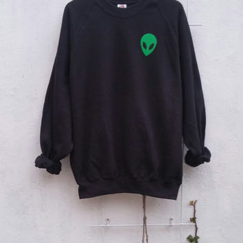 Acid Alien Sweatshirt, grunge, tumblr