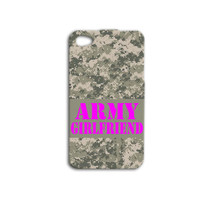 Army iPhone Case Army Girlfriend Cute iPod Case iPhone 4 iPhone 5 iPhone 4s iPhone 5s Military Phone Case Camo iPhone Case Cute Phone Cover