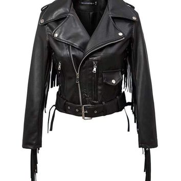 Women Motorcycle Faux Leather Jackets