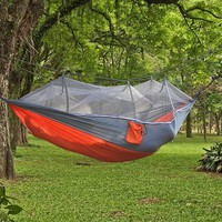 Sleeping Bed Hammock with Mosquito Auto Parachute Fabric Garden Outdoor Camping Travel Furniture Survival Hammock Swing