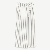CROPPED TROUSERS WITH TIE - TRENDING NOW-WOMAN-COLLECTION AW/17 | ZARA United Kingdom