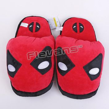 Batman Dark Knight gift Christmas Superhero Batman Superman Deadpool Spiderman Plush Shoes Toys Home House Winter Slippers for Children Women Men AT_71_6