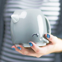 This 3D Narwhal Coffee Mug Might Be the Cutest Mug of All Time
