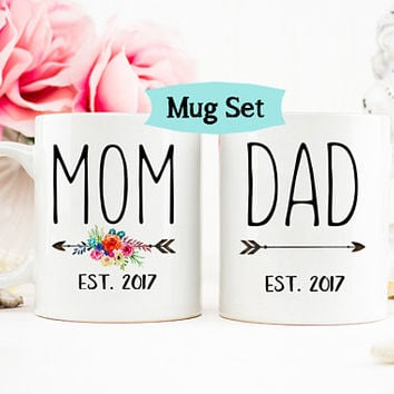New Parents Gift, Mom Gift, New Dad Gift, Gift for Mom, Personalized Mom Mug, Gift for new Mom, Mom Mug, Baby Shower gift, Mom Coffee Mug