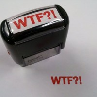 Trodat WTF?! Self Inking Rubber Stamp