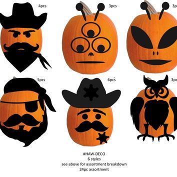 Halloween Felt Pumpkin Deco Kit - CASE OF 48