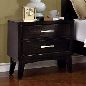Snyder Contemporary Night Stand In Espresso Finish