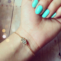 Gold Hamsa Bracelet  from GypsyRoom