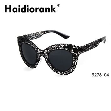 Baroque 2015 New Fashion Sunglasses Women Brand Designer Luxury Vintage Gold Glasses With Flowers Gafas Oculos De Sol Feminino