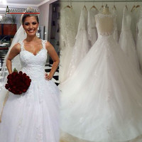 100% Real Photos Free Shipping Sexy Backless Ball Gown Wedding Dress 2016