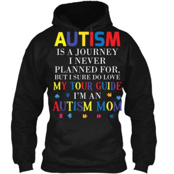 Womens Autism Mom Autism Awareness T-shirt Pullover Hoodie 8 oz
