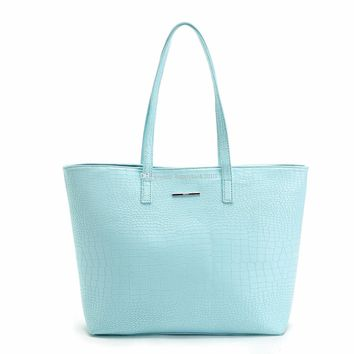 Hot sell fashion new women bags new shopping bags Candy color style PU Tote handbags m Shoulder Bags Fashion Bags-happylook201