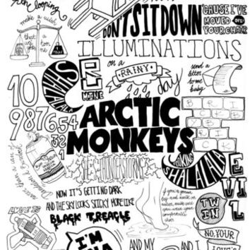 Arctic Monkeys Suck it and See Lyrics Art Print/Poster
