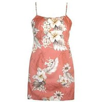 petal hawaiian spaghetti dress
