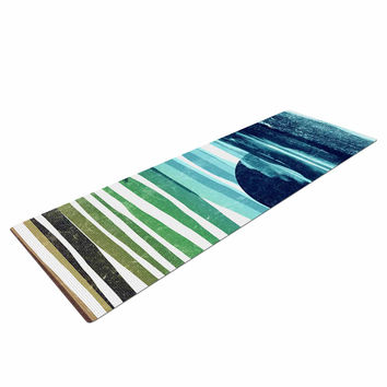 "Frederic Levy-Hadida ""Sea Scape"" Blue Stripes Yoga Mat"