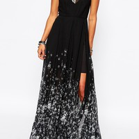 Religion Maxi Dress With All Over Star Print