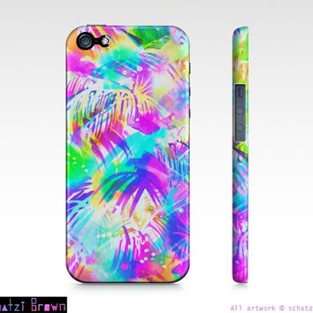 PARADISE - NEON Tropical Phone Case  iphone 5/ 5S / 4/ 4S Samsung 3/4