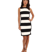 Calvin Klein Striped Ponte Sheath Dress