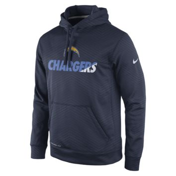 Nike Sideline KO Fleece Pullover (NFL Chargers) Men's Training Hoodie