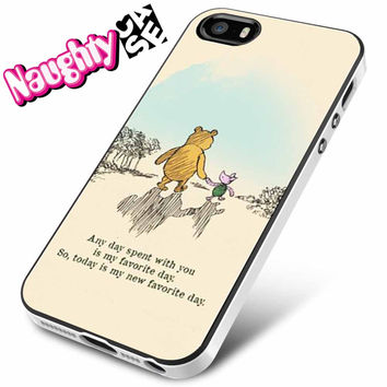 Winnie The Pooh Text iPhone 4s iphone 5 iphone 5s iphone 6 case, Samsung s3 samsung s4 samsung s5 note 3 note 4 case, iPod 4 5 Case
