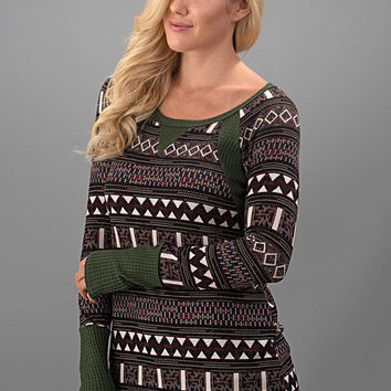 Ski Lodge Getaway Top - Olive