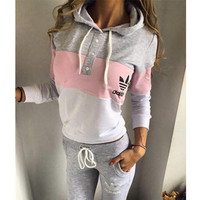 Fashion Multicolor Hoodie Sweater Pants Trousers Set Two-Piece