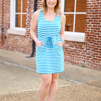 Piko striped tank dress