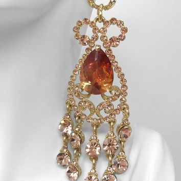 Indie XO Taj Mahal Gold Plated Citrine Orange Swarovski Crystal fdb63440d