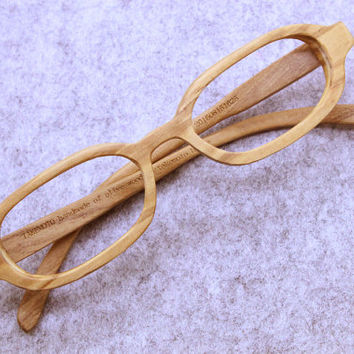 TAKEMOTO  olive wood  MJX1604 handmade prescription sunglasses very small  eyeglasses
