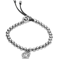 Michael Kors Bead Stretch Bracelet, Silver Color