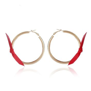 ARMELLE - Ribbon Fashion Hoops
