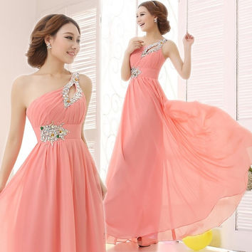 2015 Women Optional multi-color evening gown princess bride toast clothing long dress vestidos de fiesta = 1930150276