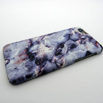 Purple Marble Stone iPhone 7 7Plus & iPhone 6s 6 Plus Case Cover +Gift Box