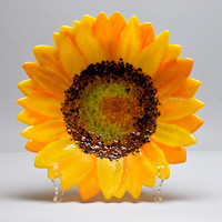 Sunflower Bowl by Anne Nye (Art Glass Bowl) | Artful Home
