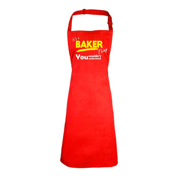 123t USA It's A Baker Thing You Wouldn't Understand Funny Apron